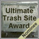 Ultimate Trash Award Logo. The Nominees of the Ultimate Trash Site Award 2001