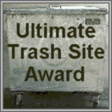 Ultimate Trash Award Logo. The Winner of the Ultimate Trash Site Award 2001