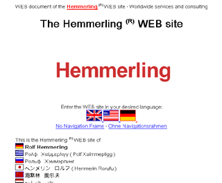 "Outdated screenshot of the website ""hemmerling.com"""