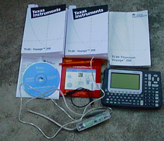 Texas Instruments TI Voyage 200, with manuals