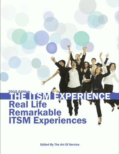"Title page of the book ""The ITSM Experience: Real Life Remarkable ITSM Experiences - 2010 Edition"""